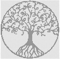 Alpha Pattern added by piperrocks - Bella De. Wedding Cross Stitch Patterns, Modern Cross Stitch Patterns, Cross Stitch Designs, Cross Stitch Tree, Simple Cross Stitch, Cross Stitch Kits, Cross Stitching, Cross Stitch Embroidery, Motifs Perler