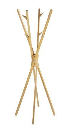 Amazon.de: WENKO 4900004100 Standgarderobe Mikado aus Bambus, Bambus, Braun