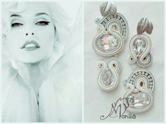#simona #rotaris #soutache Soutache Earrings, Handmade Jewellery, Necklaces, Bracelets, Ring Necklace, Shibori, Beadwork, Brooches, Jewelery