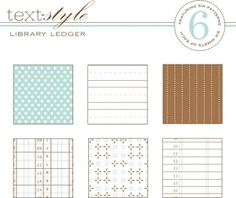 """Library Ledger Patterned Paper 8""""X8"""" (36 sheets)"""