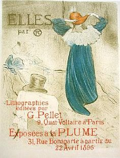 SALE: French Lithograph 'Elles' by Toulouse-Lautrec 1930 from nouveautonow on Ruby Lane