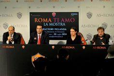 conferenza stampa di presentazione della Mostra sull'AS ROMA (ROMA Ti AMO)