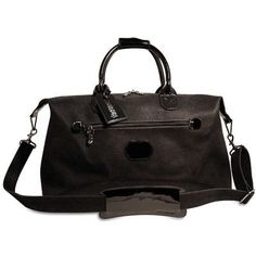 "Jack Georges Nevada 19"" Patent Leather Weekender Duffel Color: Black/Black"