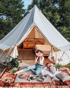 19 ideas tent camping set up life Camping Set Up, Camping Holiday, Camping Glamping, Camping And Hiking, Outdoor Camping, Camping Style, Tara Milk Tea, Luxury Tents, Caravan Vintage