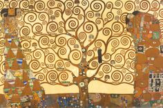 The Tree of Life, Stoclet Frieze by Gustav Klimt.  Absolutely love this...very much like my style.