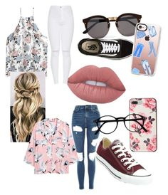 """""""Untitled #27"""" by charlotte-carp on Polyvore featuring Lime Crime, Vans, H&M, Topshop, Converse, Kate Spade, Illesteva and Casetify"""