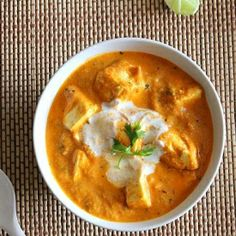 Paneer Makhani - a rich Cottage Cheese gravy to accompany with Naans or any other bread