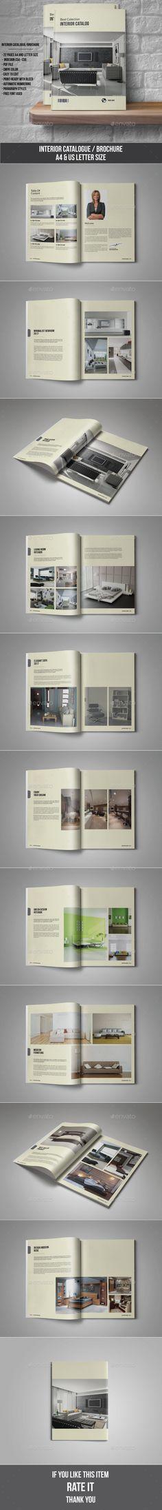 Interior Catalogue / Brochure Template InDesign INDD #design Download: http://graphicriver.net/item/interior-catalogue-brochure/13985172?ref=ksioks