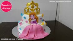 happy birthday princess torte crown cake design ideas 1 to 5 yearor birthday cake for baby girl Happy Birthday Papa Cake, Happy Birthday Princess Cake, Easy Princess Cake, Princess Theme Cake, Baby Girl Birthday Cake, Baby Girl Cakes, Baby Birthday Cakes, Princess Torte, Baby Princess