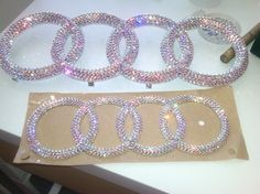 Audi Car Bling. Send your own emblem in or buy a new one all blinged out.