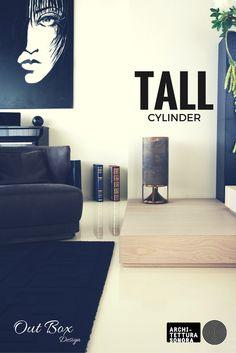 Tall Cylinder, es el balance ideal en dimensiones y líneas. Perfecto para cualquier aplicación en interiores y exteriores.