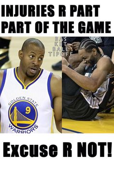 Andre Iguodala and Kawhi Leonard were both injured in yesterday's game.  No excuses this year fans. If both players were not injured there is no telling how the game would turn out.  Kawhi has weak ankles now so he will go over on them even easier now he should have been sat sooner. The spurs can play without him if they start without him so they can get into a rhythm.  Golden State Warriors are still favourites to beat San Antonio Spurs but we have pause for thought; Injuries are playing a…