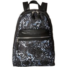 French Connection Piper Backpack (Tiger Shark) Backpack Bags (695 ZAR) ❤ liked on Polyvore featuring bags, backpacks, black, crystal clear bags, clear bags, day pack backpack, strap backpack and flat backpack