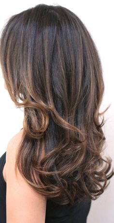 Hair color on pinterest brunette highlights brunette for 3 brunettes and a blonde salon