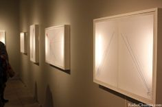 """RadioChumps does, """"Nicole Czapinski's Threaded Colors//Drawing Lines Exhibit."""""""