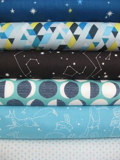 G's room is getting an update with new curtains, and hopefully quilt with this fabric line.  Fun!