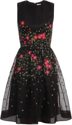 Temperley London Primrose Floral Flared Dress in Floral (black) - Lyst