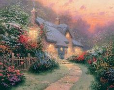 Glory of Evening.  http://awordlover.hubpages.com/hub/Thomas-Kinkade-Dies-Painter-of-Light