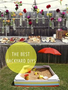 15 Best Backyard DIYs- the backyard theater is a great project. Cheap alternatives in the comments section.