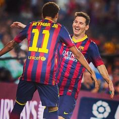 Neymar and Messi  FC Barcelona