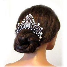 Bridal hair comb, wedding hair accessory, Bridal crystal Rhinestone Hair Comb, Pearl hair comb