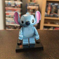 Stitch Lego figure from the Disney mini figures series! #disney #disneylego #minifigures #legominifigures #legoseries #afol #stitch #liloandstitch #disneyclassic #disneyworld #disneygram #legostagram #cute #collection by lennyj82
