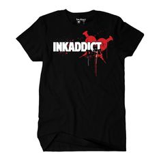 InkAddict Black T Shirt Mens Eddie Men's Tee Bloody Heart #inkaddict #ink #tattoo #painfulpleasures #fashion #tattoofashion #tattooinspiredfashion #clothing #tshirts