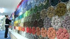 A large range of colours on display at Jamieson's shop in Lerwick (Courtesy ShetlandPeerieMakkers and J J Jamieson)
