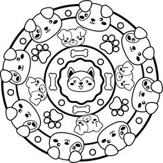 Descarga mandalas para colorear en formato PDF Mandalas For Kids, Math For Kids, Kids Boxing, Coloring For Kids, Colouring Pages, Decorative Plates, Creations, Doodles, Bebe
