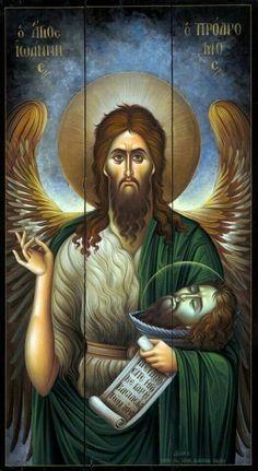 Saint John The Baptist Religious Images, Religious Icons, Religious Art, Orthodox Catholic, Catholic Art, Byzantine Art, Byzantine Icons, Christian Artwork, Spirituality