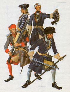 Swedish; Great Northern war, Musketeer Ёnchёpingskogo (Jonkopings) Regiment. Drummer Kalmar (Kalmar) Regiment. The Officer Nёrke-Vermlandskogo (Narke-Viirmlands) Regiment. Pikeman not identified in original