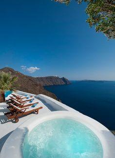 Astra Luxury Villa Imerovigli, Santorini, Greece #santorini #greece #view #luxury #travel #property
