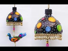 Easy Best Out of Waste DIY Wind Chime | Plastic Bottle Craft Ideas | DIY Silver Foil Clay Crafts | - YouTube