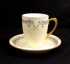 Z. S. & Co.  Antique Chocolate Cup and Saucer Bavaria by KatsCache #vogueteam #vintage #collectibles