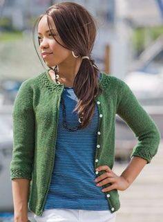 Gemma Cardigan Pattern - Knitting Patterns by Hilary Smith Callis