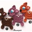 Crochet patches – REH Wunschfarbe – a unique product by Maeusespatz on DaWanda