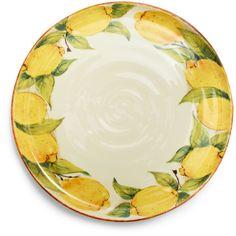 Lemon Collection Dinner Plate | Sur La Table    So pretty
