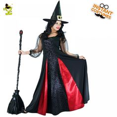 1f825673fc3 Women s Witch Costume for Role Play Movie Wizard