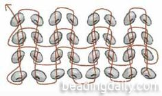 Flat Herringbone Stitch - Glossary - Beading Daily