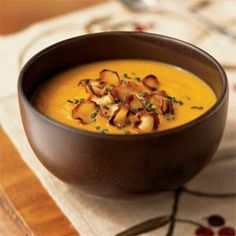Carrot Parsnip Soup. This tastes so rich and creamy, but it's actually healthy and light! Like to top with a dab of lt sour cream.