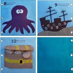 Under the Sea  - ePattern for a Toddler's Quiet Book. $8.00, via Etsy.