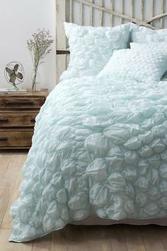 Catalina Quilt, Aqua eclectic quilts-Will go beautifully with a soft cloudy bedroom.http://www.houzz.com/photos/643824/Catalina-Quilt--Aqua-eclectic-quilts-