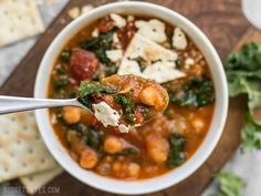 This Smoky Potato Chickpea Stew is a hearty and filling plant-based dish that will keep you full and warm this winter! BudgetBytes.com