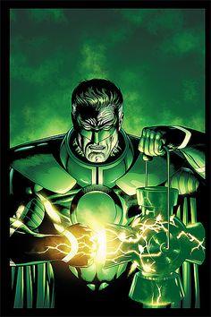 Green Lantern, Comic Book Art    For Sam