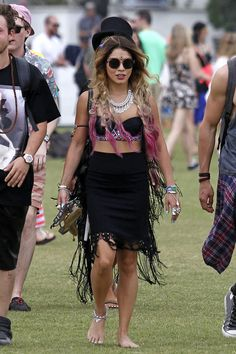 Vanessa Hudgens at Coachella 2014 wearing yet again another amazing outfit <3