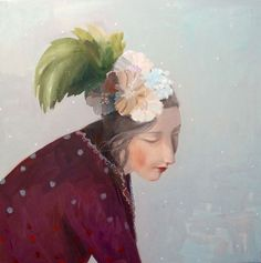"""Kristin Vestgard, """"Elsewhere but Here"""", oil 80 x 80cm, £3500. Has now SOLD."""