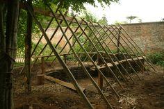 Nice framework for a shelter!