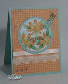 This card used two of the great sets you can earn forFREE during Sale-A-Bration! Avant Garden  has both solid 2-step floral images shown he...