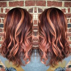Rose gold hair, sherbet colored hair