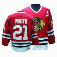 6900fdedb Stan Mikita Jersey - Buy 100% official CCM Stan Mikita Men's Authentic Red  Jersey Throwback NHL Chicago Blackhawks #21 Free Shipping.